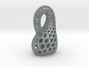 Two-Inch Klein Bottle in Polished Metallic Plastic