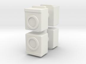 Washing Machine (x4) 1/100 in White Natural Versatile Plastic