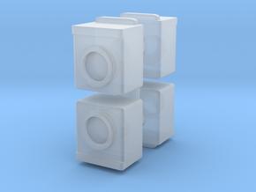 Washing Machine (x4) 1/100 in Smooth Fine Detail Plastic
