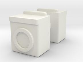 Washing Machine (x2) 1/72 in White Natural Versatile Plastic