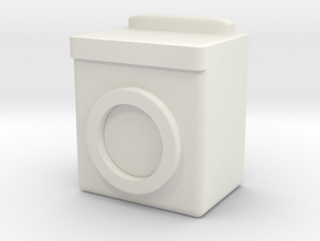 Washing Machine 1/43 in White Natural Versatile Plastic