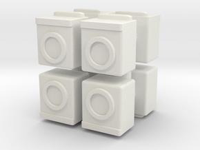 Washing Machine (x8) 1/160 in White Natural Versatile Plastic