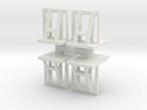 Crowd barrier (x4) 1/87 in White Natural Versatile Plastic
