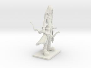 Fantasy Figures 12 - Ranger in White Natural Versatile Plastic
