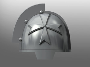 Grievous ptrn Shoulder Pads: Black Teutons in Smooth Fine Detail Plastic: Small