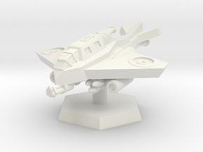 VTOL Fighter (Hovering) in White Natural Versatile Plastic: Extra Small