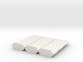 Barrera-3UD-H0-proto-01 in White Natural Versatile Plastic