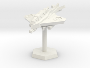 VTOL Fighter (Advancing High) in White Natural Versatile Plastic: Extra Small