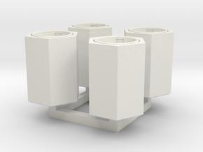 Betonpapierkorb sechseckig, DDR, 1:45 in White Natural Versatile Plastic