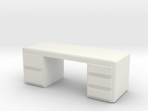 Office Desk 1/35 in White Natural Versatile Plastic