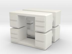 Office Desk (x4) 1/144 in White Natural Versatile Plastic