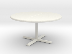 Office Table 1/72 in White Natural Versatile Plastic