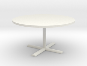 Office Table 1/43 in White Natural Versatile Plastic