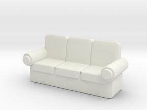 Sofa 1/35 in White Natural Versatile Plastic