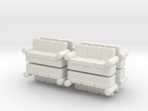 Sofa (x8) 1/144 in White Natural Versatile Plastic