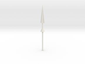 Steel Jeeg Lance in White Natural Versatile Plastic