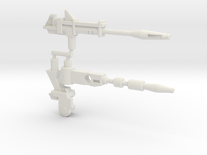 Hound Weapon Set (Siege, 5mm) in White Natural Versatile Plastic: Large