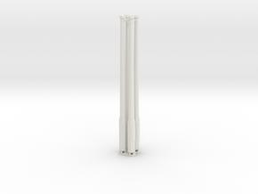 Betonmast 5m achteckig, hohl, DDR, 1:45, 4 Stück in White Natural Versatile Plastic