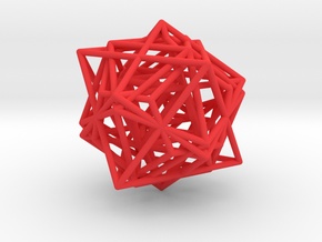 Metatron´s Cube in Red Processed Versatile Plastic