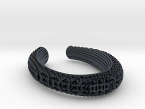 3D snowflake lattice bracelet in Black PA12