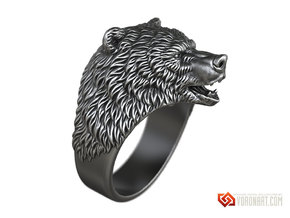 Brown Bear ring jewelry in Natural Brass: 10 / 61.5