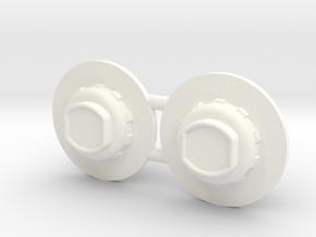 hub-03-2019 for Broshuis pendle-X trailer in White Processed Versatile Plastic