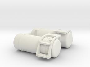 "1/50th Fuel Tank Round 60"" w short step in White Natural Versatile Plastic"