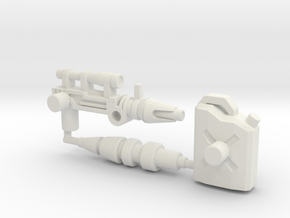 Hound Accessory Set (Siege, 5mm) in White Natural Versatile Plastic: Large