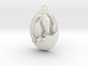 Hatching Dragon in White Natural Versatile Plastic