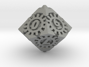 Steampunk D10 in Gray PA12: d10