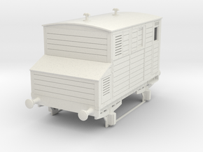 o-32-mgwr-horsebox in White Natural Versatile Plastic