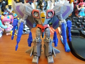 Battle Class Starscream Addons in Blue Processed Versatile Plastic