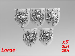 Templars Large Storm Shields Set 2 in Smooth Fine Detail Plastic
