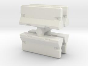 Traffic Barrier set (x4) 1/56 in White Natural Versatile Plastic