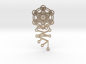 Archangel Metatron Activation Key in Polished Gold Steel