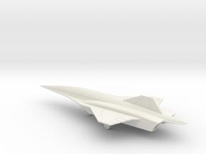 Lockheed Martin SR-72 UAV (w/Landing Gear) in White Natural Versatile Plastic: 1:200