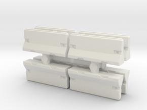 Traffic Barrier set (x8) 1/120 in White Natural Versatile Plastic