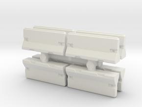 Traffic Barrier set (x8) 1/160 in White Natural Versatile Plastic