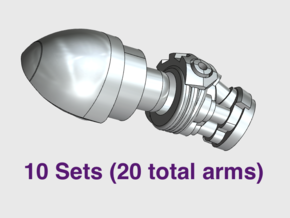 10x Bionic - Adjustable Arm Sets in Smooth Fine Detail Plastic