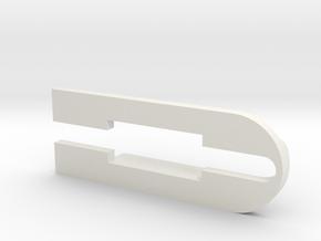 Tesla model 3 USB extension adapter clip in White Natural Versatile Plastic