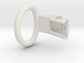 Q4e single ring XL 39.8mm in White Premium Versatile Plastic