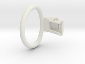 Q4e single ring M 57.3mm in White Premium Versatile Plastic