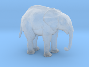 N Scale Elephant in Smooth Fine Detail Plastic