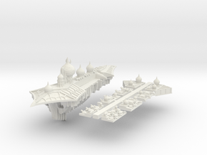 Slaanesh_7_cruiser in White Natural Versatile Plastic