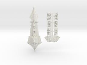 Tzeechen_2_cruiser in White Natural Versatile Plastic