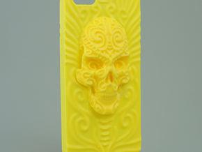 """Cara del Fin"" iPhone 5 case in Yellow Strong & Flexible Polished"