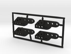 CRC1002 Axial SCX10 II lift droop flex kit in Black Natural Versatile Plastic