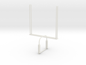'HO Scale' - Football Goalpost in White Natural Versatile Plastic