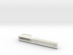 Stepped Rail in White Natural Versatile Plastic