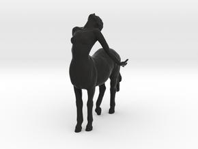 Female Centaur Pose 2 in Black Natural Versatile Plastic